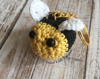 Bumble Bee Amigurumi Keychain, Kawaii