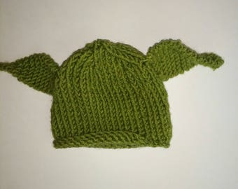 Knitted Yoda Hat