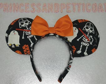 Star Wars Halloween Inspired Mouse Ears Headband and Bow by PrincessandPetticoat