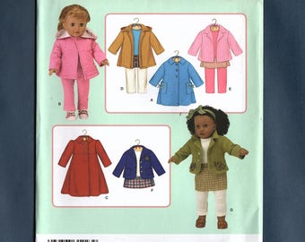 "Simplicity 3551 Doll Clothes Sewing Pattern, Coat Jackets Style Variations, Pencil Skirt, Fits 18"" Dolls, Elaine Heigl Designs"