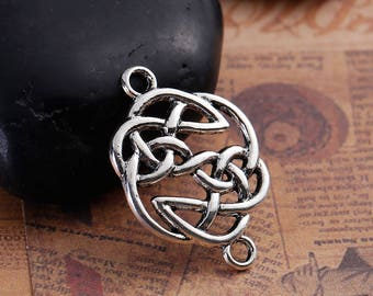 5 connector knot Celtic silver 20mm