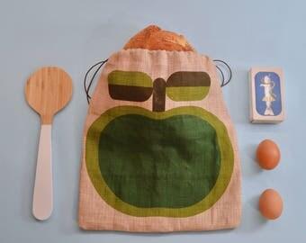 Eco bread bag-green apple-eco friendly bag