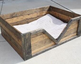 CUSTOM Rustic Dog Bed