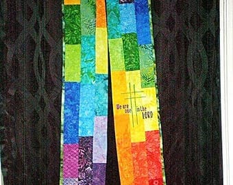 BRIGHT PATCHWORK Stole ORDS-146  by Rosemary St. Clair