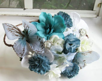 Butterfly ice blue crown