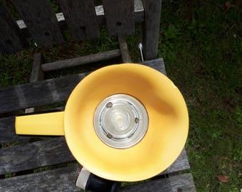 Vintage Thermos Flask 58 Q Yellow Grey
