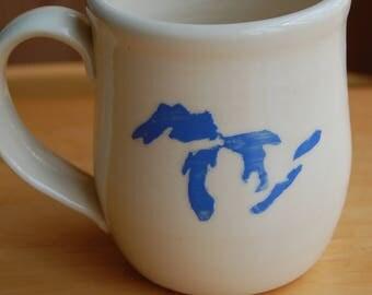 Great Lakes hand-thrown mug - 16 oz.
