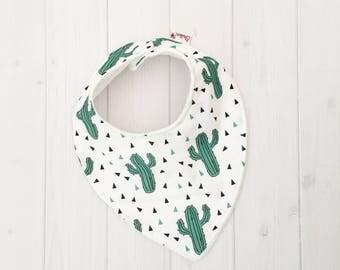 Baby Dribble Bib, Cactus bib, Bandana Bib, Baby Bib, Teething Baby Bib, Baby bib, cactus bib