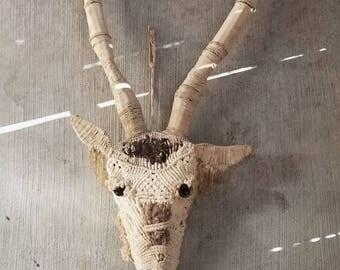 Antique African Antelope Mask, African Masks, African Art, Tribal Art, Antelope Mask, Original Art, Antelope Sculpture