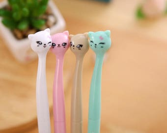 Gel pen cute Kitty comes in 4 colors listed here