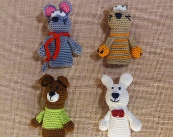Animal finger toys/finger puppets/puppet theater/personalized theatre/puppet theatre/finger boll/animal puppets