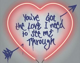 "You've Got The Love ""60x60cm"" - By Kid-B Art"