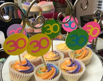 30 Party Cupcake Toppers