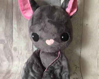 Bat plush, bat plushie, cute soft bat toy, personalised bat plush, Bat gift