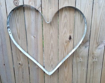 Wine Barrel ring Heart metal art home decor indoor outdoor rustic used wime barrel ring