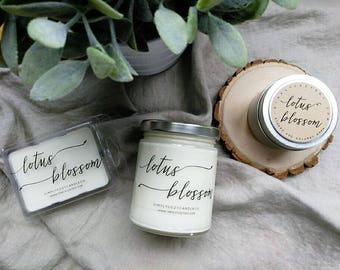 lotus blossom - hand poured soy candle