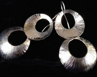 Double-hoop earrings, 70 years style