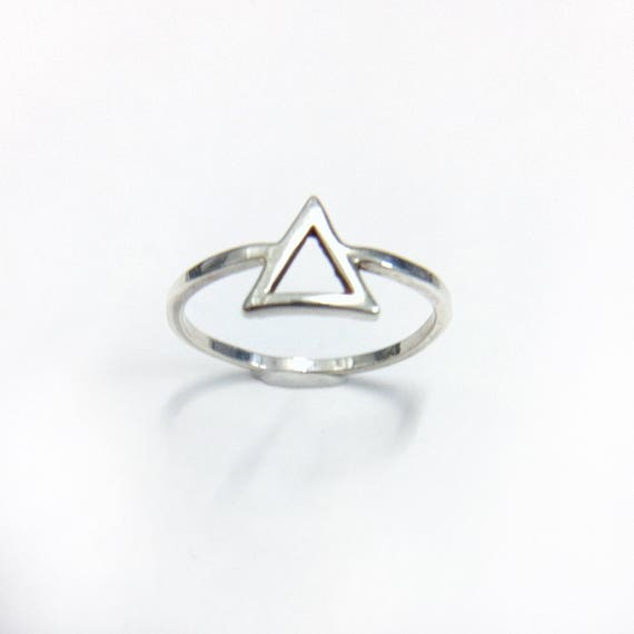 Silver Elements Ring // Elements Ring // Silver Triangle Ring // Triangle Ring // Water Ring // Fire Ring // Silver Ring