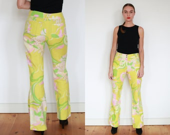 D&G Yellow Floral Bellbottom Pants / S