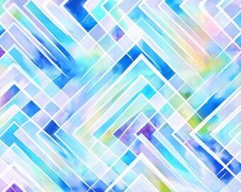 Criss-Cross Watercolor