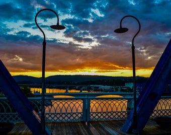 Framed Sunset. Framed.