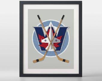Winnipeg Jets-inspired Hockey Art Print