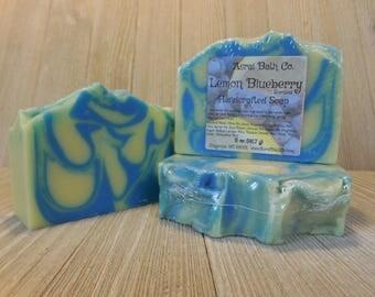 Lemon Blueberry Handcrafted Soap