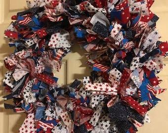Patriotic Tie Wreath