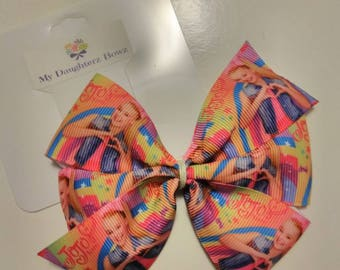 JoJo Siwa hair bow, JoJo bow, pink hair bow, JoJo headband, baby hair bow, rainbow hair bow, Dance moms hair bow, medium hair bow