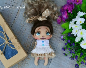 Art doll handmade doll OOAK fabric doll beautiful doll handmade toys cloth doll rag doll collection doll textile doll for sale interior doll