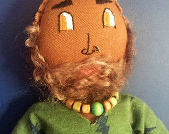 Less than half price! Beach beard guy art doll sift sculpture home decor black man