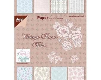 Block of 32 paper 15 x 21 cm JOY CRAFTS VINTAGE ROSES