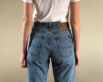 90s Ralph Lauren High Waisted Tapered Faded Jeans   28W 2/4