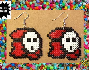 Super Mario Shy Guy Hama Earrings