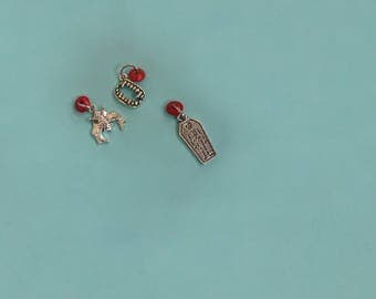 Beaded Vampire Ring Stitch Marker Pack of 3