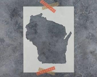 Wisconsin Stencil - Hand Drawn Reusable Mylar Stencil Template