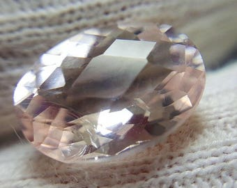 4 CT Faceted Morganite - Pink! - 7 x 14 x 11 mm • From Afghanistan 8295