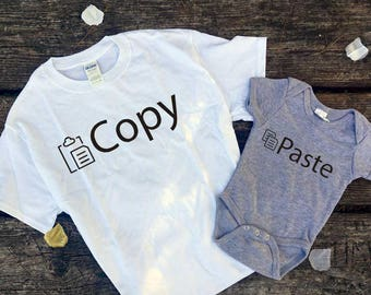 Copy Paste couple shirts // Father & Son // Father's day