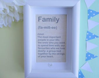 Family Gift - Quirky Home Decor - Family Frame - Family Print - Quirky Gift - Quirky Art - Quirky Art Print - Gift For Families