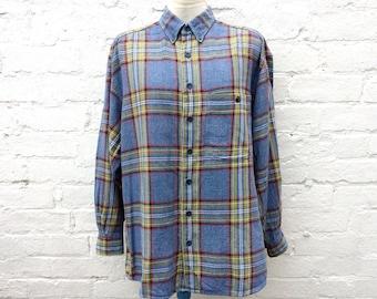 Men's flannel shirt, oversized grunge top, 90's fashion
