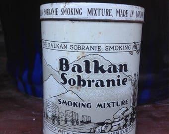 Balkin Sobraine Smoking Mixture Tin. 1920s