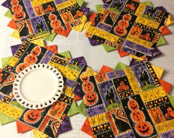 Holiday Happy Halloween Placemats/Candlemats/MugRugs - 4 Piece Set- PK4