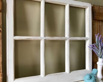 Rustic window frame etsy for Bungalow style picture frames