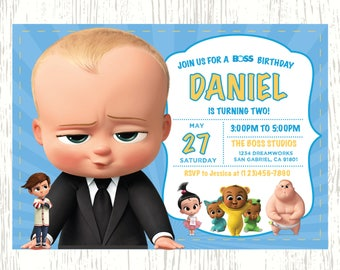 Boss Baby Birthday Printable Party Pack, Boss Baby Birthday Party Kit, Boss Baby Birthday Party Decorations, Boss Baby Birthday Invitation