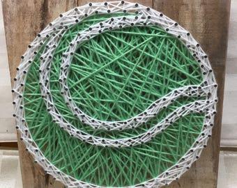 String Art Sign - Tennis Ball