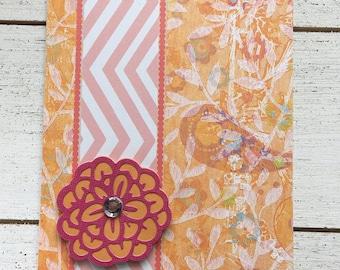Pink and Orange Blank Card