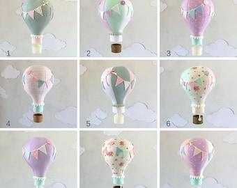 SALE! Single Hot Air Balloon Baby Mobile, hot air balloon decorations, hot air balloon nursery, Nursery Decor, nursery art, Baby Shower Gift