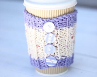 Knitted coffee cozy, Coffee sleeves, coffee, tea cozy, Cozies
