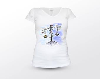 Libra T-Shirt, Libra Zodiac, Libra Horoscope, Astrology T-Shirt, Zodiac T-Shirt, Horoscope T-Shirt, Libra Zodiac Sign, Libra gift