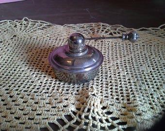 Vintage silver plated alcohol burner, warmer